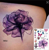 Temporary Tattoos T02 - flower Outer Space Universe Temporary Tattoo