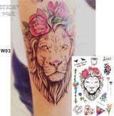 Temporary Tattoos T03 - lion Outer Space Universe Temporary Tattoo