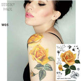 Temporary Tattoos T05 - yellow flower Outer Space Universe Temporary Tattoo