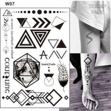 Temporary Tattoos T07 - black&white Outer Space Universe Temporary Tattoo