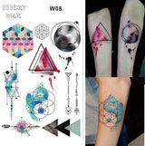 Temporary Tattoos T08 - space Outer Space Universe Temporary Tattoo