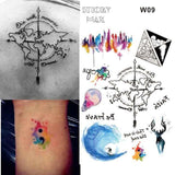 Temporary Tattoos T09 - world Outer Space Universe Temporary Tattoo