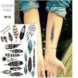 Temporary Tattoos T10 - feathers Outer Space Universe Temporary Tattoo