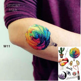 Temporary Tattoos T11 - balloon Outer Space Universe Temporary Tattoo