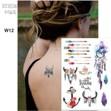 Temporary Tattoos T12 - arrows Outer Space Universe Temporary Tattoo