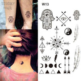 Temporary Tattoos T13 - peace Outer Space Universe Temporary Tattoo