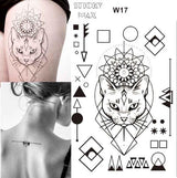 Temporary Tattoos T17 - cat Outer Space Universe Temporary Tattoo