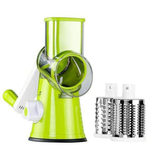 The Exemplary 3in1 Mandoline Vegetable Cutter Green Vegetable Slicer