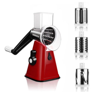 The Exemplary 3in1 Mandoline Vegetable Cutter Red Vegetable Slicer