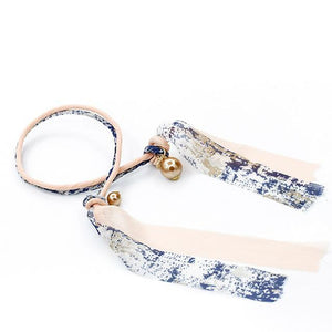 Tie-it-Cute Hair Buns (3PCS Set) Blue - White Hair Accessories