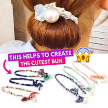 Load image into Gallery viewer, Tie-it-Cute Hair Buns (3PCS Set) Pink Hair Accessories