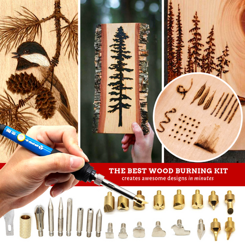 Trace & Carve Wood Burning Pen (28 pcs set) US Electric Soldering Irons