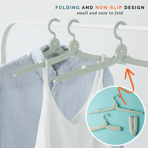 Travel Light - Folding Hanger Green / 2 pcs set Clothing Hangers