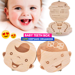 Treasure Box - Baby Tooth Storage English Boy Storage Boxes & Bins