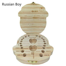 Load image into Gallery viewer, Treasure Box - Baby Tooth Storage Russian Boy Storage Boxes & Bins