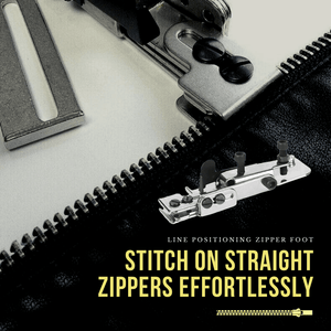Trouble-free Positioning Zipper Footer Zipper Foot