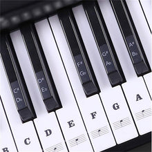 Load image into Gallery viewer, Ultimate Full Set Piano Key Sticker Black sticker set Piano Stickers