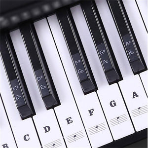 Ultimate Full Set Piano Key Sticker Black sticker set Piano Stickers