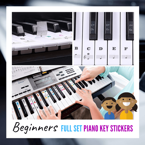 Ultimate Full Set Piano Key Sticker Multi-colored sticker set Piano Stickers