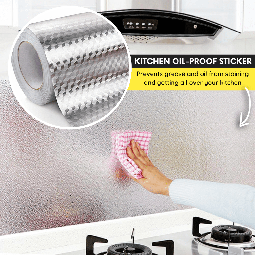 Ultimate Self-Adhesive Kitchen Protection Film Grid / S Wall Stickers