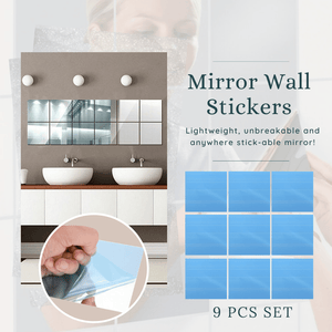 Unbreakable Mirror Wall Stickers Small (9 pcs set) Mirror Stickers