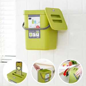 Upgraded 2020 Wall-Mounted Trash Bin Wall Bins