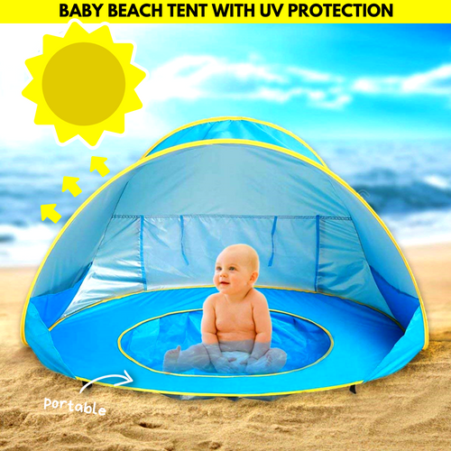 UV Protected Baby Tent Pool Blue Baby Tent Pool