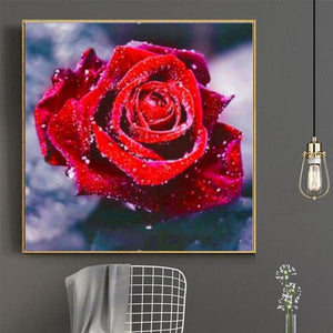 Vibrant Rose Diamond Embroidery Kit XL Embroidery