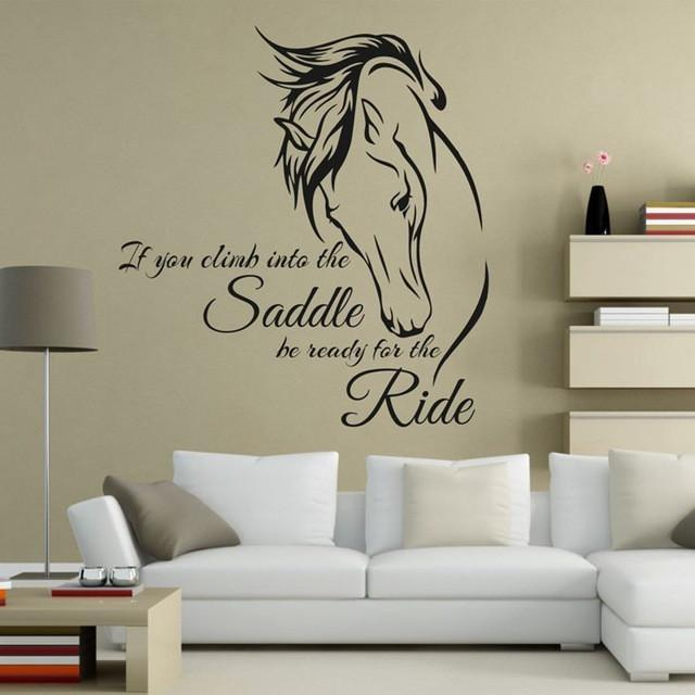 Wall Stickers black Horse Riding Wall Decal