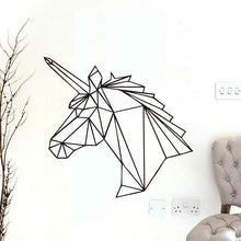 Load image into Gallery viewer, Geometric Unicorn Wall Decal