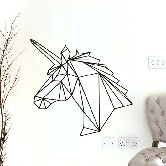 Geometric Unicorn Wall Decal