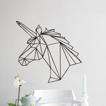 Load image into Gallery viewer, Wall Stickers Geometric Unicorn Wall Decal
