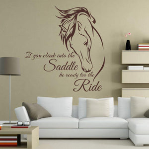 Wall Stickers Horse Riding Wall Decal