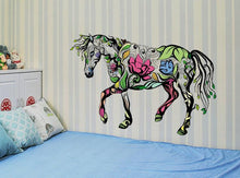 Load image into Gallery viewer, Wall Stickers Multicolor Flower Horse Wall Stickers
