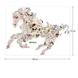 Wall Stickers New design Horse Flower pattern Wall Sticker