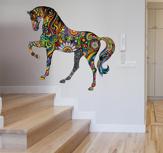 ... Wall Stickers Removable Vinyl Horse Wall Art ... & Removable Vinyl Horse Wall Art u2013 Fox Stark
