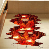Wall Stickers The Floor is Lava - 3D Sticker