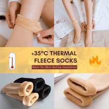 Load image into Gallery viewer, Warm Feet - Thermal Fleece Socks Beige Socks