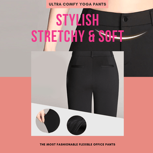 Work & Flex - Stylish Soft Yoga Pants Black / S Yoga Pants