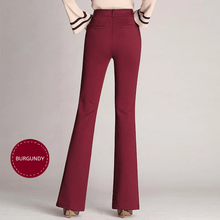 Load image into Gallery viewer, Work & Flex - Stylish Soft Yoga Pants Burgundy / S Yoga Pants