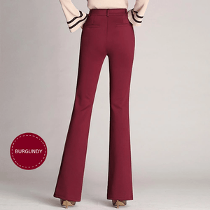 Work & Flex - Stylish Soft Yoga Pants Burgundy / S Yoga Pants