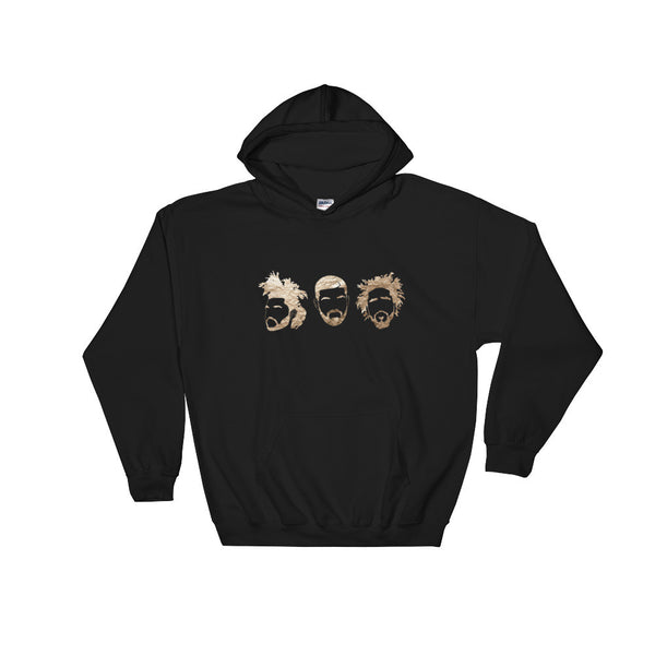 Gold Trio Hooded Sweatshirt