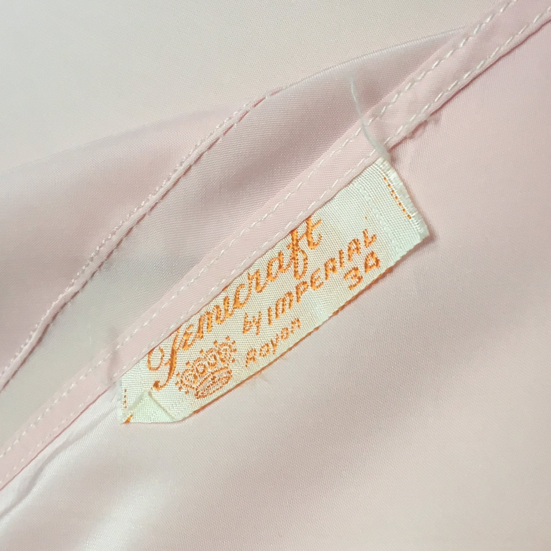 Vintage 1940's Slip | Powder Pink Rayon with Tulle Inserts & Embroidery | Femicraft | Size S - Daggers & Dames