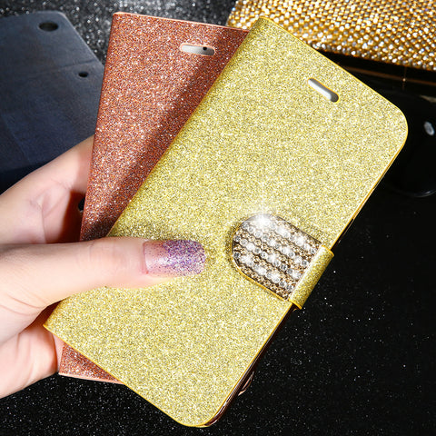 Luxury Bling Diamond Glitter Flip Case for Apple iPhone