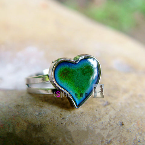 Heart Adjustable Size Mood Ring