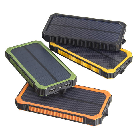 Waterproof Solar Power Bank With Dual USB
