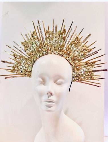 Rhinestone and spike headpiece