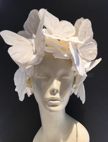 White Butterfly Headpiece