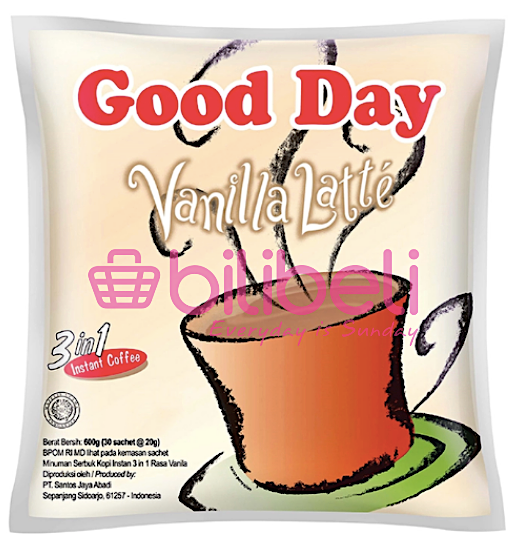 Good Day Vanilla Latte 20g 1 pack / 30 sachets
