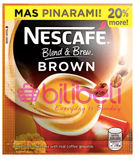 (+ 2 SACHETS FREE) Nescafe Blend & Brew Brown 3in1 1 Pack / 10 Sachets